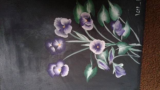 violets for Meg2 by Valerie VanOrden