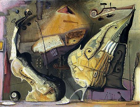 Violin And Chello by Vakho Kakulia
