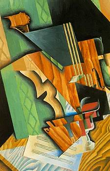 Violin And Glass 1915 by Gris Juan