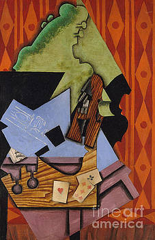 Juan Gris - Violin and Playing Cards on a Table, 1913