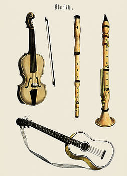 Violin, classical guitar and flute variants by Unknown