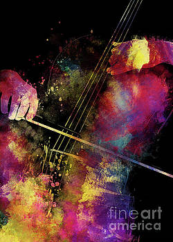 Violoncello art 1  by Justyna JBJart
