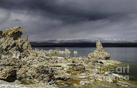 Virga On Mono Lake by Steve Rowland