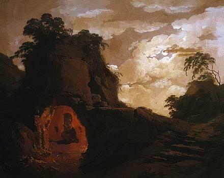 Wright Joseph - Virgil Tomb With The Figure Of Silius Italicus 1779