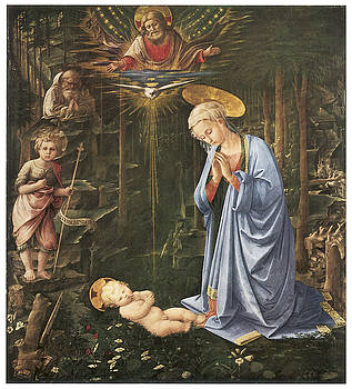 Fra Filippo Lippi - Virgin Adoring the Child