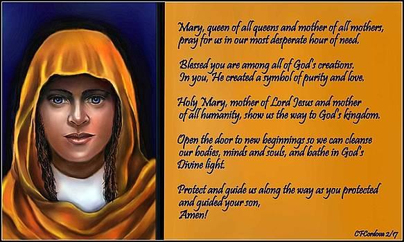 Spiritual Virgin Mary and Prayer by Carmen Cordova