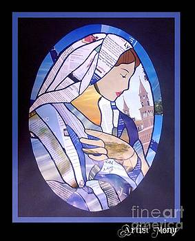 Virgin Mary collage by Eman Allam