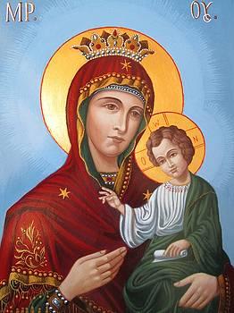 Virgin Mary Hodegetria by Janeta Todorova