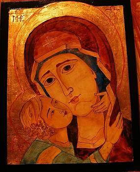 Virgin Mary Theotokos by Ciocan Tudor-cosmin