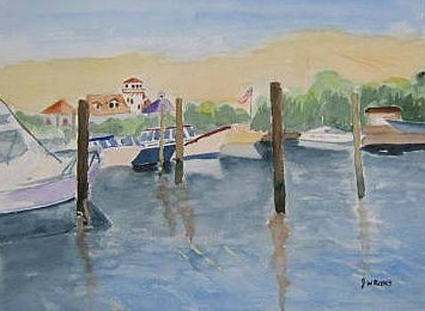 Virginia Beach Marina by Joan Wallace Reeves