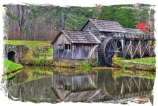 Virginia Country Roads - Mabry Mill, Autumn - Blue Ridge Parkway, Floyd County by Michael Mazaika