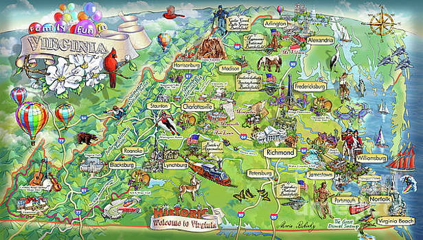 Maria Rabinky - Virginia Illustrated Map