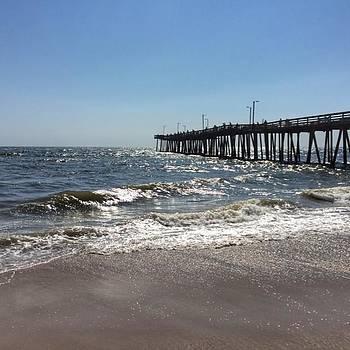 #virginiabeach #virginia #pier #ocean by Pete Michaud