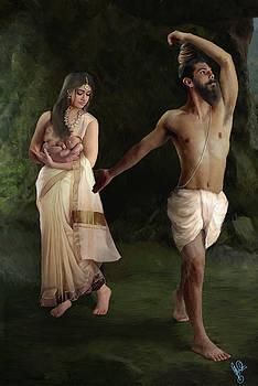 Vishwamitra Cursing Menaka by Shreeharsha Kulkarni