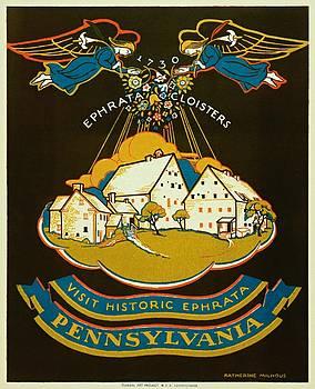 Visit historic Ephrata, Pennsylvania, WPA poster, 1939 by Vintage Printery