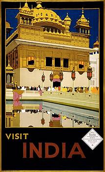 Visit India, travel poster, 1935 by Vintage Printery