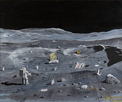 Visiting the Apollo 14 S-IVB impact site on the Moon by James Scotti