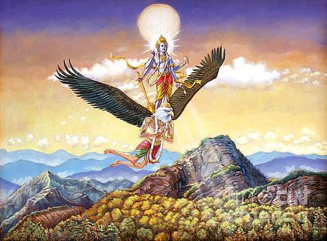 Dominique Amendola - Visnu flying on the back of Garuda