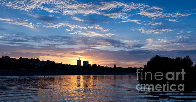 Vistula River skyline panorama by Arletta Cwalina