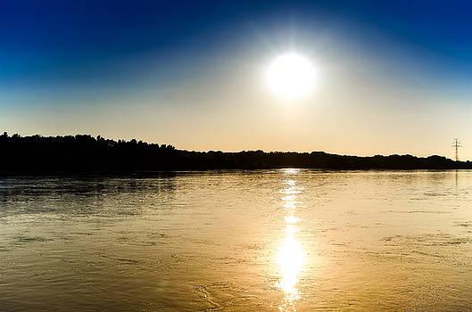 Vistula River Sunset 2 by Tomasz Dziubinski