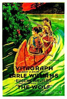 Peter Ogden - Vitagraph Canoeing Poster Early Thomas Edison Associaton circa 1915