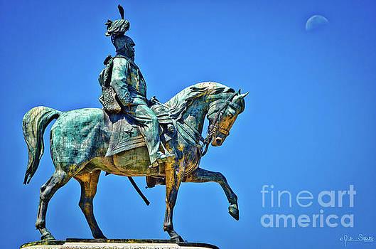 Julian Starks - Vittorio Emanuele II Gilt Bronze Statue #3