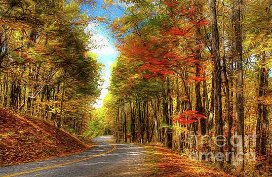 Dan Carmichael - Vivid Autumn in the Blue Ridge Mountains AP