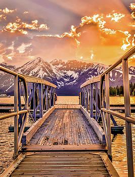 Vivid Sunset On Jackson Lake by Dan Sproul