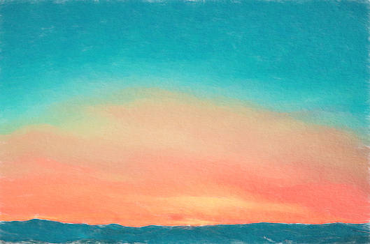 Vivid Watercolor Sunset by Emily Smith