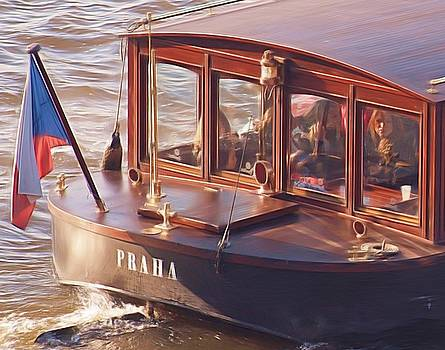 Vltava River Boat by Shawn Wallwork
