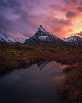 Volandstinden On Fire by Tor-Ivar Naess