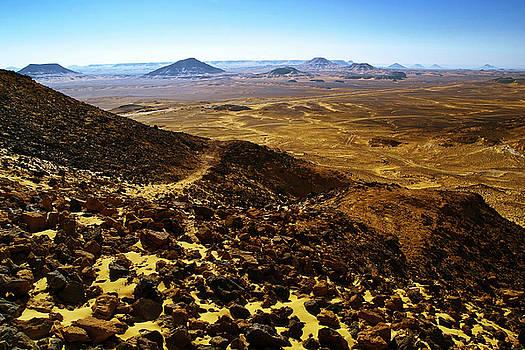 Volcanic Black desert by Vera Golovina