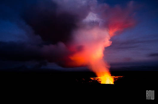 Volcano Sunset by Benjamin Weilert