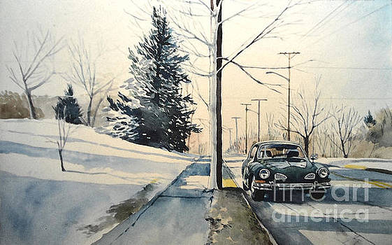 Christopher Shellhammer - Volkswagen Karmann Ghia on snowy road
