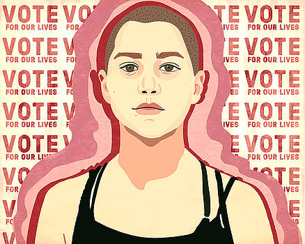 Vote For Our Lives , Emma Gonzalez by Nicole Wilson