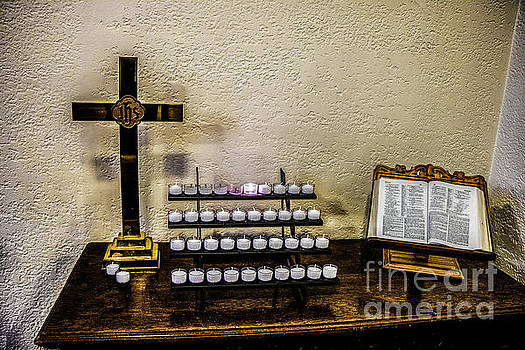 Votive Table, Crucifix and Bible by Thomas Marchessault