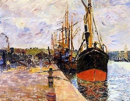 Vue De Port 1880 by Guillaumin Armand