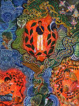 Vuelan Versucum   by Pablo Amaringo