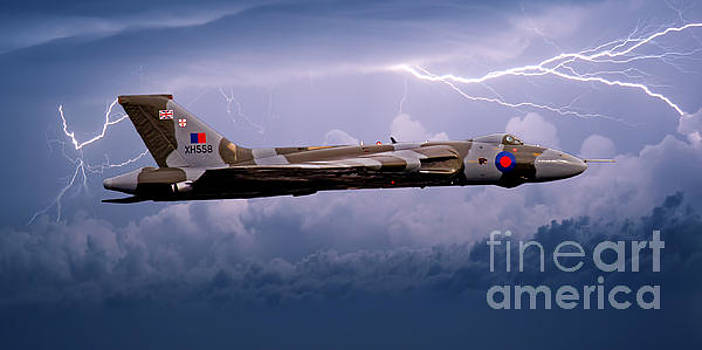 Vulcan Bomber in a Storm by Roger Green