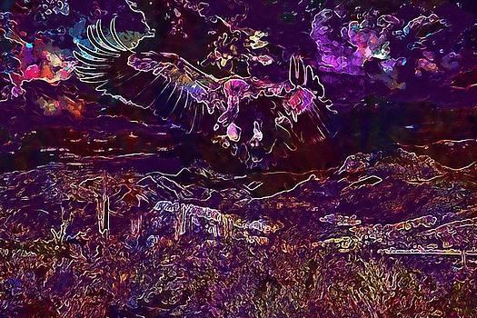Vulture Bird Fantasy Flying Wings  by PixBreak Art