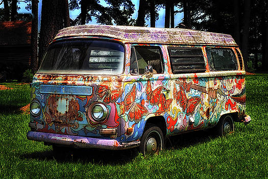 VW Psychedelic Microbus by Bill Swartwout Fine Art Photography