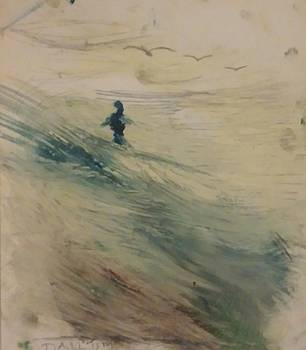 Wading In The Surf by Gregory Dallum