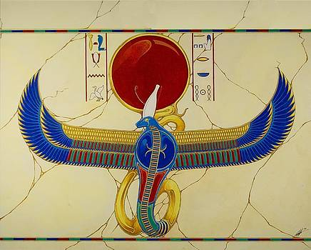 Wadjit the protector of the pharaoh for all eternity by Stefan Johnson