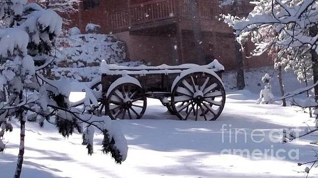 Wagon In Snow by Milton Tarver