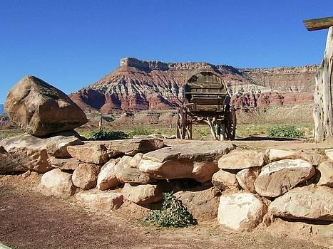 Wagon in Utah by Kathleen Heese
