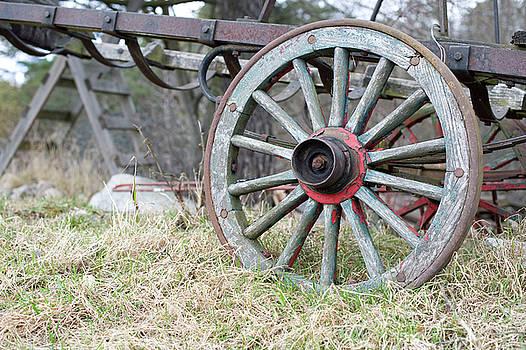Wagon Wheel 2 by Cynthia Powell