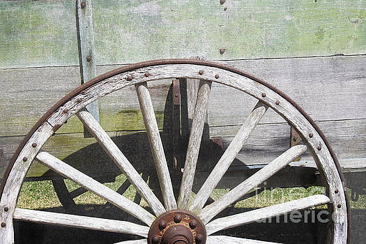 Wagon Wheel - Old West Trail N832 by Ella Kaye Dickey