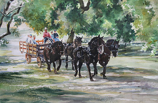 Wagonride at Bloomingcamps by Tamara Keiper