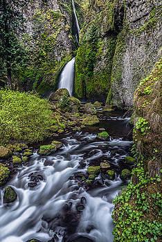 Wahclella Falls by Chuck Jason