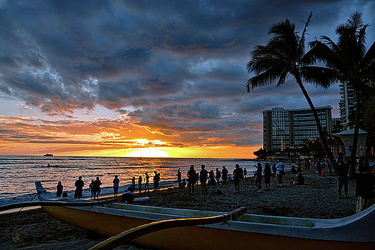 Waikiki Sunset by Rick Lawler
